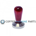 57mm Wooden and Stainless Steel Flat Tamper